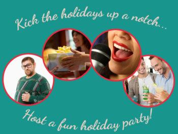 Kick up the Holidays Banner