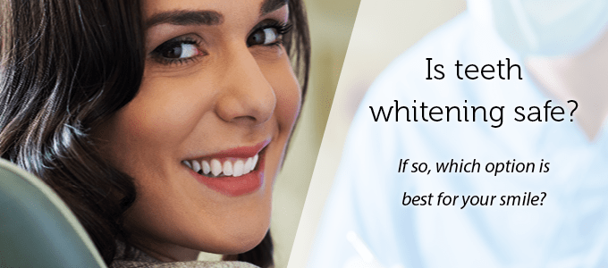 A woman turns to the camera and smiles to show how teeth whitening enhances your smile