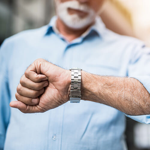 A man checking his watch