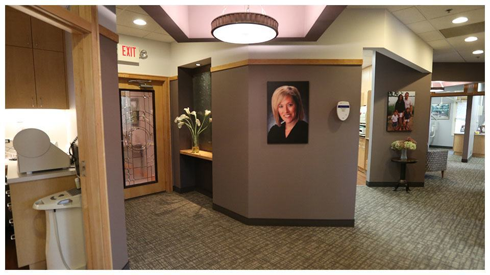 The office corridor of Serene Oaks Dental