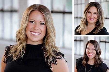 Melissa, Sarah, and Kristen, dental assistants at Serene Oaks