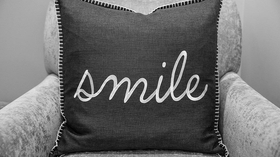 Serene Oaks Dental smile cushion