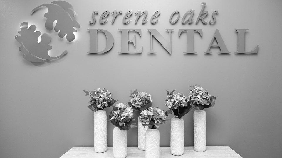 Serene Oaks Dental wall logo