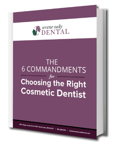 Homepage preview image of our free eBook titled The 6 Commandments for Choosing the Right Cosmetic Dentist