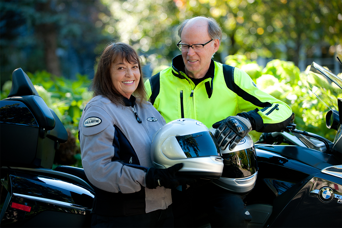 Two of our patients on their motorcycles.
