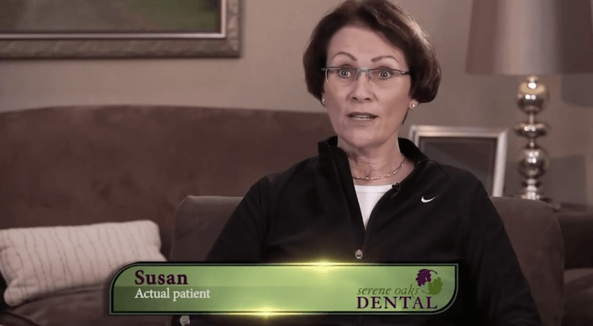 Susan, an actual patient of our Minneapolis dentist.