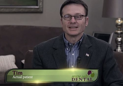 Tim, an actual patient of Serene Oaks Dental