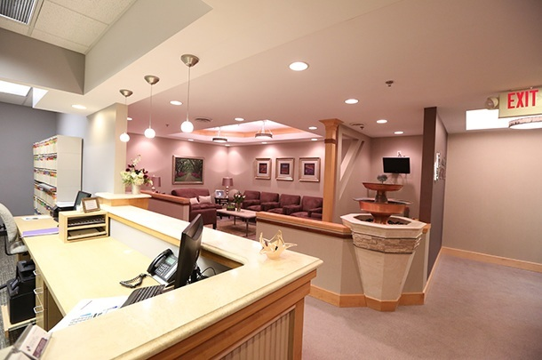 The front lobby of Serene Oaks Dental in Minneapolis.