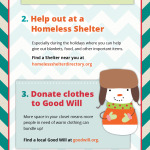 How to Give Back in the Holidays Infographic