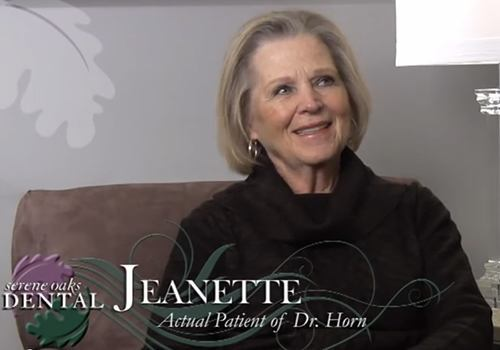 Video preview of Jeanette, an actual patient of Dr. Horn.