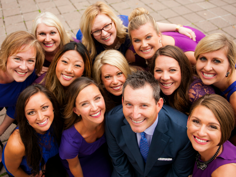 Group photo of the happy team at Serene Oaks Dental
